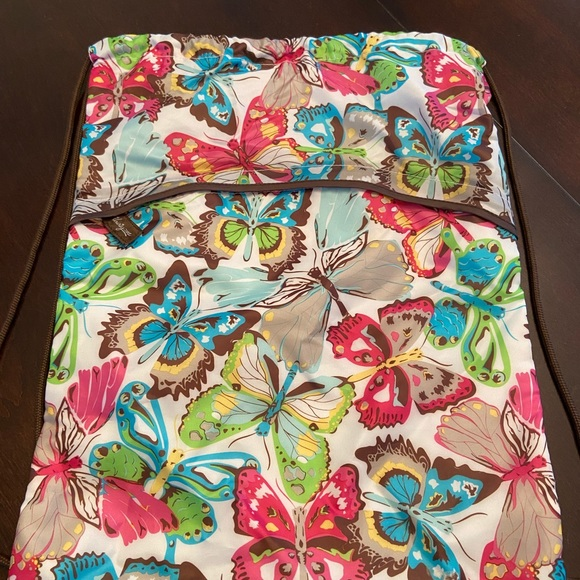 Thirty-One Butterfly Drawstring Backpack. New!